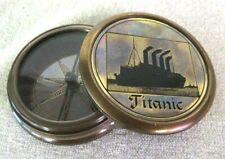Edler Marine Kompass mit Prägung Titanic- anlaufgeschützt