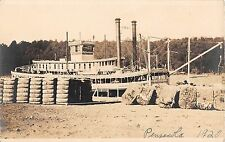 1920 RPPC Steamship at Dock Pensacola FL