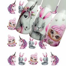 5 Sheets Nail Water Decals Rabbit Manicure Nail Art Transfer Stickers Decoration