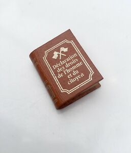 THE CHANNEL TUNNEL  SOUS LE MANCHE DOLLS HOUSE DOLLHOUSE MINIATURE LEATHER BOOK