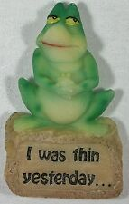 """Fridge Magnet Frog """" I WAS THIN YESTERDAY... """" Diet Helper with it's words NEW"""