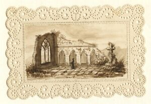 France 1850: Three Miniature Romantic Architecture Studies, Charming!