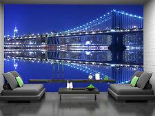 Manhattan Bridge At Nigh I Wall Mural Photo Wallpaper GIANT DECOR Paper Poster