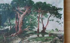 Ancienne peinture impressionniste  école de Paris,19th siècle français
