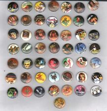 WHOLESALE MUSIC ROCK/ POP/ SLOGANS/80'S/90'S/ CURRENT/EMO BADGES x 200 JOB LOT.