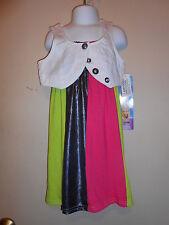 Disney Hannah Montana Girls Dress & Vest Set Multi M/5-6 NWT