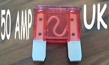 NEW 4 x 50AMP maxi blade fuse car tractor truck lorry bus camper van 4x4, cheap!