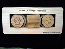 Pet Challenge Puzzle - Dog or Cat Treat Feeder Brain Teaser size small