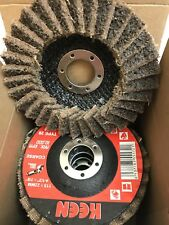 "Box of 5- Coarse Surface Conditioning Flap Disc 4-1/2"" X 7/8""  KEEN Brite 55728"