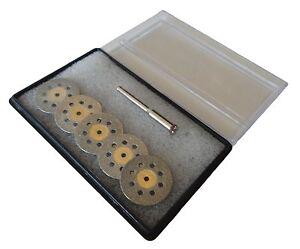 5pc Diamond Cutting Wheels Die Grinder Cut Off Disc for Dremel Rotary Tool