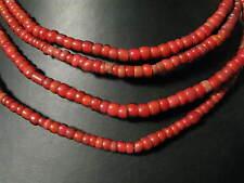 2 hebras vieja abalorios B old White Heart Venetian Glass trade beads afrozip