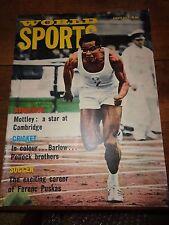 World Sports august 1965 magazine vintage mottley barlow puskas