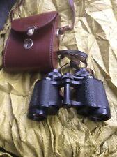"""Carl Zeiss Jena DDR """"Jenoptem"""" 8X30W Multi-Coated Binoculars & Leather Case"""