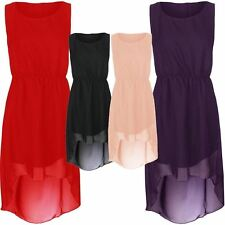 Sleeveless Chiffon Full Length Dresses Plus Size for Women