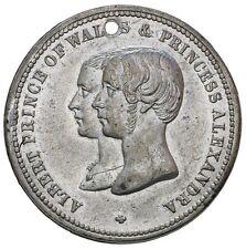 1863 UK Prince Albert  Edward ( VIII) & Alexandra of Denmark Marriage Medal