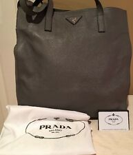 PRADA BR5030 SAFFIANO SOFT Tote Shoulder Bag Marmo W/AUTHENTICITY CARD