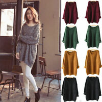 Women Oversized Knitted Sweater Batwing Sleeve Tops Cardigan Loose Outwear Coat