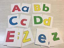 """Happy Pals"" Alphabet Flash Cards - 52 Alphabet card A-Z Uppercase & lowercase"