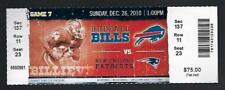 2010 NFL NEW ENGLAND PATRIOTS @ BUFFALO BILLS FULL UNUSED FOOTBALL TICKET
