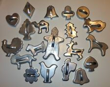 20 VINTAGE ALUMINUM METAL HANDLE COOKIE CUTTERS CHRISTMAS THANKSGIVING MIRRO?