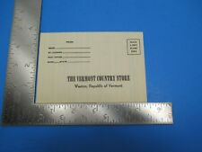Vintage Vermont Country Store Paper Order Form Sealed Weston Vermont S4023