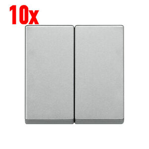 10x Merten Wippe Serieschalter 2fach System M 433560 Aluminium Doppelwippe