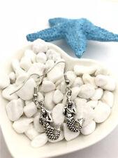 1 pair Mermaid Earrings Tibet silver Charms Earrings Charm Earrings for Her