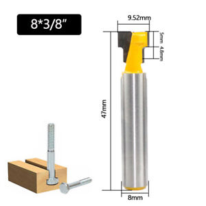 Portable Keyhole T-Slot Router Bit Woodworking Tools For Wood Milling Cutter C