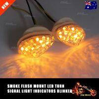 Clear Flush Mount LED Turn Signal Light Blinker for HONDA Motorcycle Motorbike