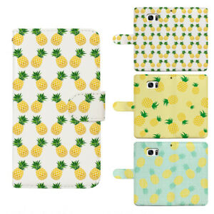 Pineapple Card Slot Flip Wallet Cover Phone Case for iPhone & Samsung