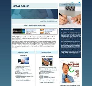 Legal Documents & Business Forms, Contracts, Law Advice Website for Sale