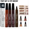 Eyebrow Pencil Liquid 4 Tip Tattoo Pen Makeup Paint Eyebrow Liner Waterproof Gel