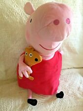 "TY PEPPA PIG PLUSH LARGE - 16"" TALL WHILE SITTING"