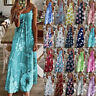 Womens Sundress Casual Floral Loose Ladies CAMI Party Maxi Long Slip Dress 6-22