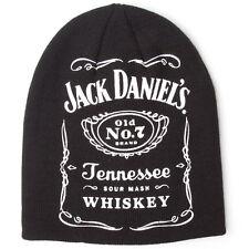 NUOVO Ufficiale Jack Daniel's JD VECCHIO N. 7 Classico Marchio Etichetta Cappello Beanie