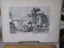 Vintage Print,ROMAN COUNTRY WOMEN,Rome,Francis Wey,1872