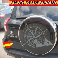 Rosa De Vientos Montañas Vinilo Adhesivo Decal Coche 4x4 Jeep Toyota 60x40cm