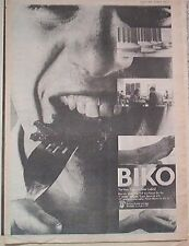 PETER GABRIEL Biko (face) 1980 UK Poster size Press ADVERT 16x12 inches