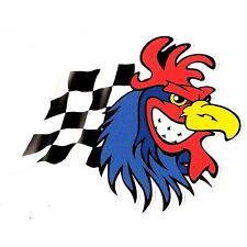COQ Damier flag Sticker droit