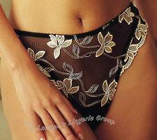 Ballet Kismet KI31 Lace Thong in Black/Gold (Shop Soiled)