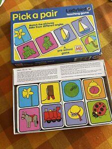 Vintage Ladybird Teaching Game Michael Stanfield Pick A Pair Preschool