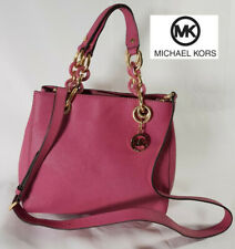 Pink Michael Kors small Cynthia Canvas satchel Excellent condition like new