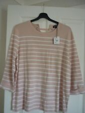 THE COLLECTION PINK & OFF WHITE STRIPE JUMPER. UK 20, EUR 46-48, US 16. BNWT