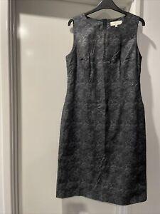 Sportscraft Signature Shift Sleeveless Dress Lined 12 Cotton/elastane