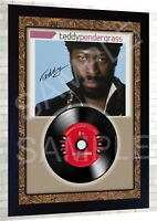Teddy Pendergrass Greatest Hits SIGNED FRAMED PHOTO PRINT AND Mini LP