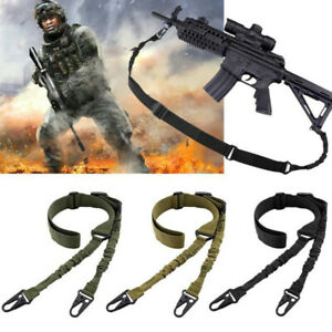 Tactical 2 Point Gun Sling Shoulder Strap Outdoor Rifle Sling With Metal B`sf