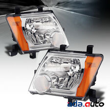 For 2005-2015 Nissan Xterra Chrome Headlights Replacement Lamps Set