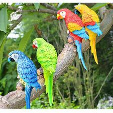 Parrot Ornament Bird Statue Figurine Sculpture Home Garden Decoration