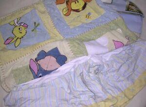 Kids Line Disney Baby Winnie The Pooh Dust Ruffle (Bed Skirt) & Quilt (Blanket)