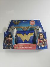 Imagine Wonder Woman Super Hero Dress Up Set Gauntlets Headdress Cape Sizes 4-6